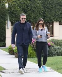 Ben Affleck and Jennifer garner out together in Santa Monica.