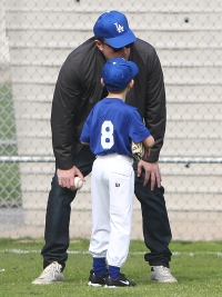 Ben Affleck and Son Samuel Play Baseball in LA