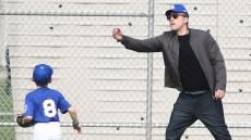 Ben Affleck and Son Samuel Play Baseball in LA