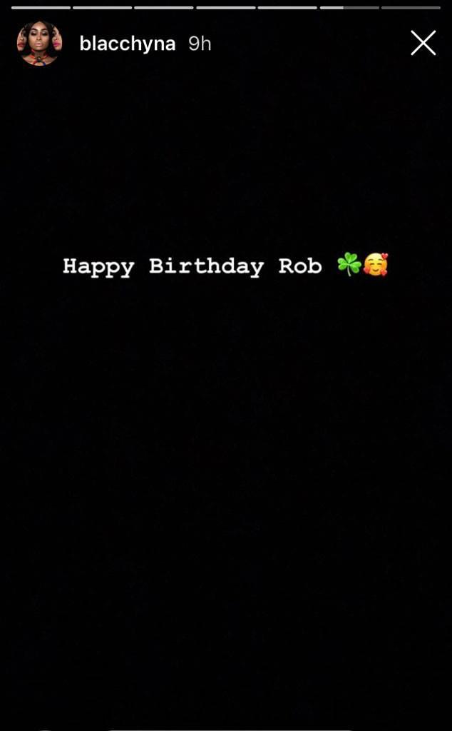 Friendly Exes! Blac Chyna Wishes Former Flame Rob Kardashian 'Happy Birthday'