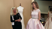 Abbie Grace Burnett tries on pink wedding dress on 'The Abbie Gown' episode of 'Counting On.'