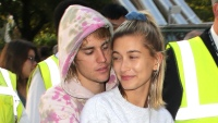 justin bieber wearing tie dye with hailey baldwin
