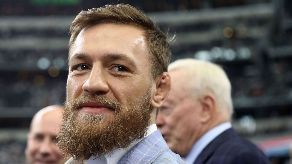 Conor McGregor at an event with a beard