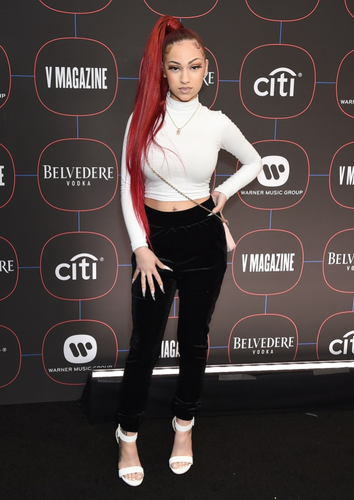 danielle bregoli wearing a white top and black pants