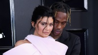 Kylie Jenner and Travis Scott at an event together