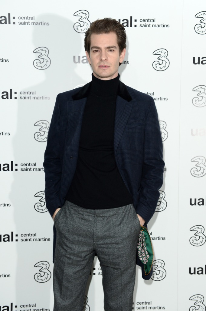 andrew garfield wearing black at an event