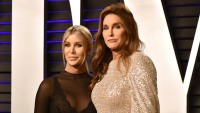 Caitlyn jenner wearing a sparkly dress with Sophia hutchins