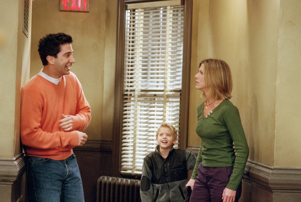 David Schwimmer Jen aniston and cole sprouse together