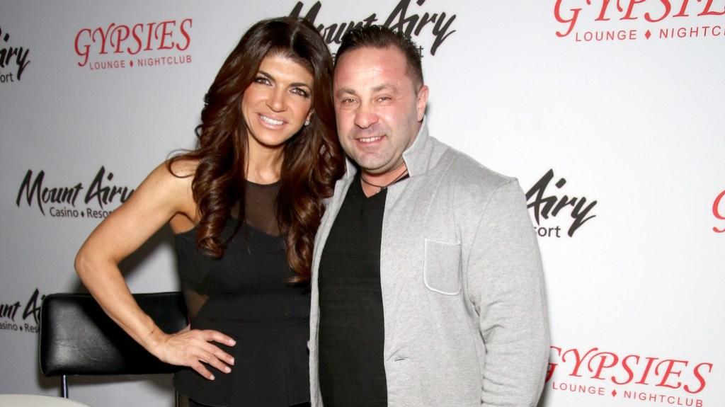 Teresa wearing a black shirt with Joe Guidice