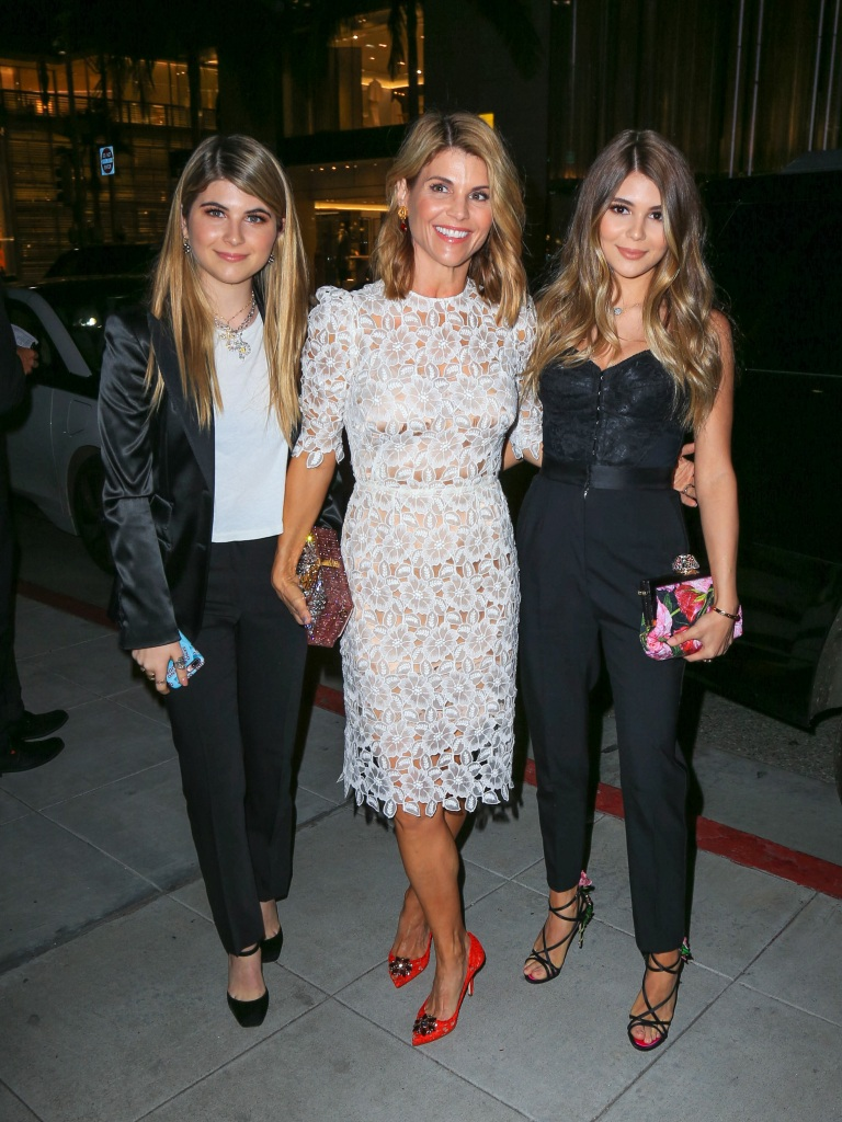 lori loughlin with her 2 daughters