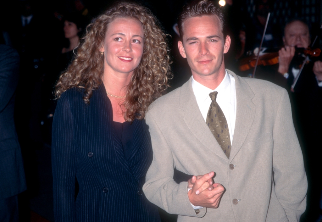 Luke Perry with his ex-wife