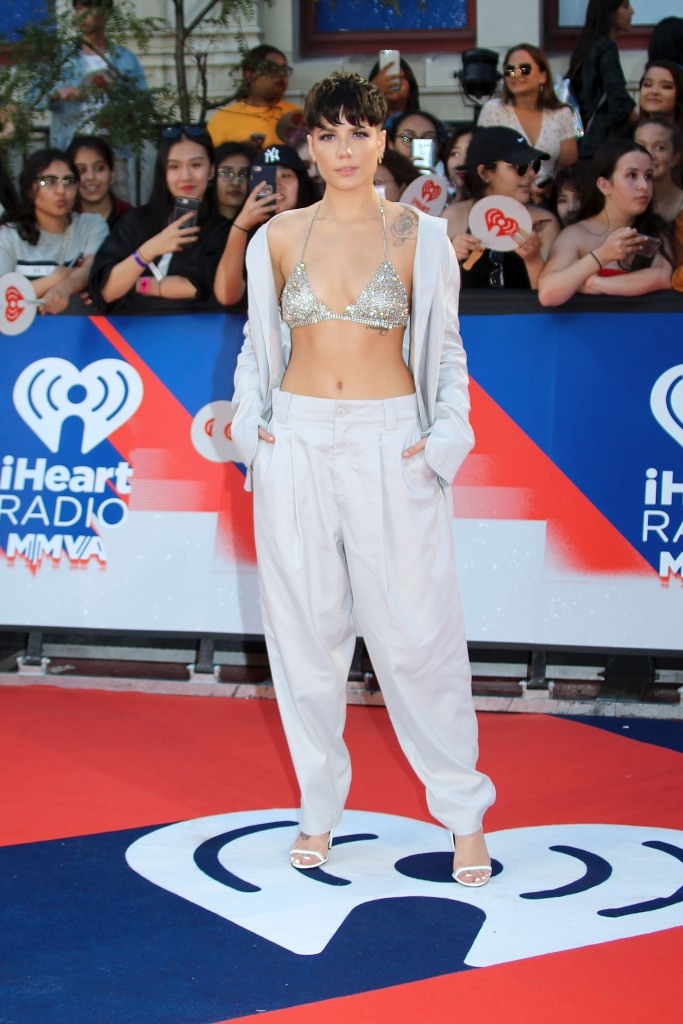 Halsey at the iHeartRadio Music Awards in 2018.