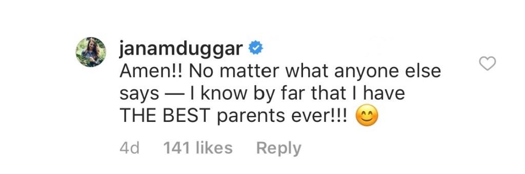 Jana Duggar Praises Jim Bob and Michelle as the 'Best Parents,' No Matter 'What Anyone Else Says'