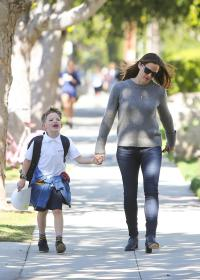 Jennifer Garner out and about with son Samuel