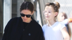 Jennifer Garner Takes Her Girls Out