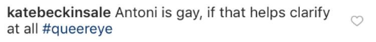 Kate Beckinsale Instagram comment