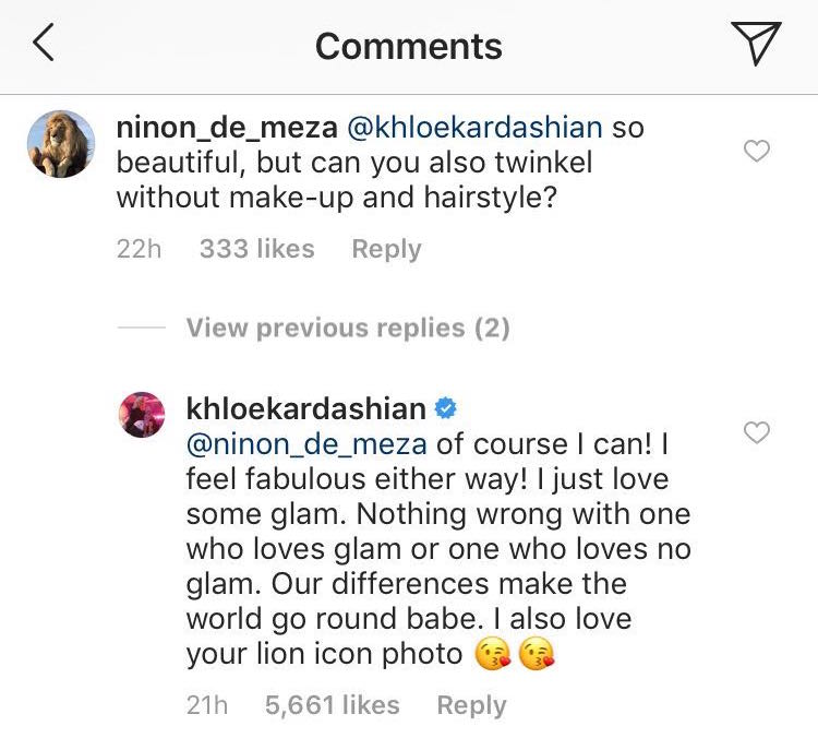 Khloe Kardashian claps back at troll