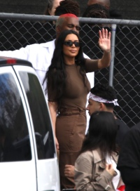 Kardashians seen leaving Kanyes church gathering