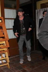 brad pitt going to dinner in west hollywood