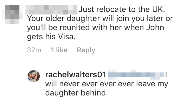 Rachel Walters Claps Back After Troll Claims She Should Leave Her Daughter Behind to Be With John