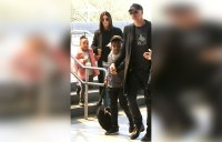 Sandra Bullock, kids and Boyfriend Step Out Together
