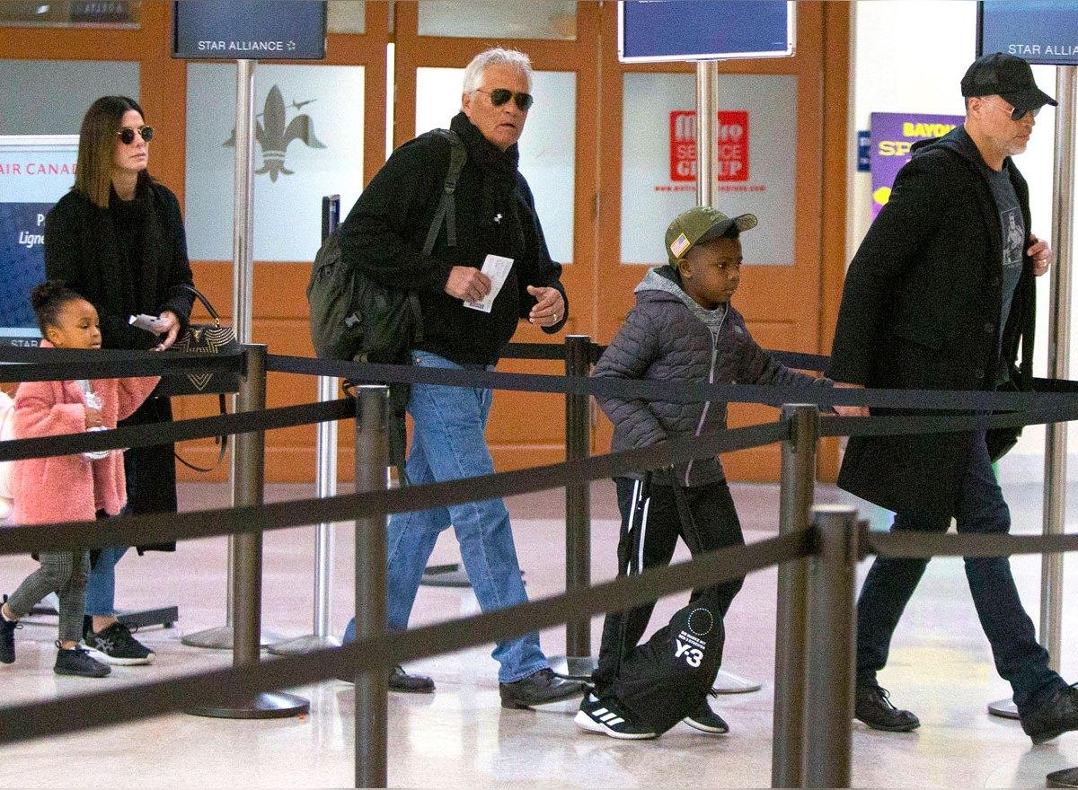 Sandra Bullock and Boyfriend Bryan Randall Spend Time With Her Kids