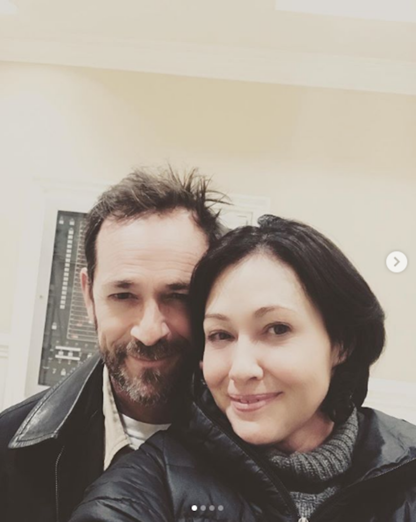 Shannon Doherty with Luke Perry