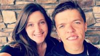 Zach and Tori Roloff Take Selfie In Front Of Stone Wall