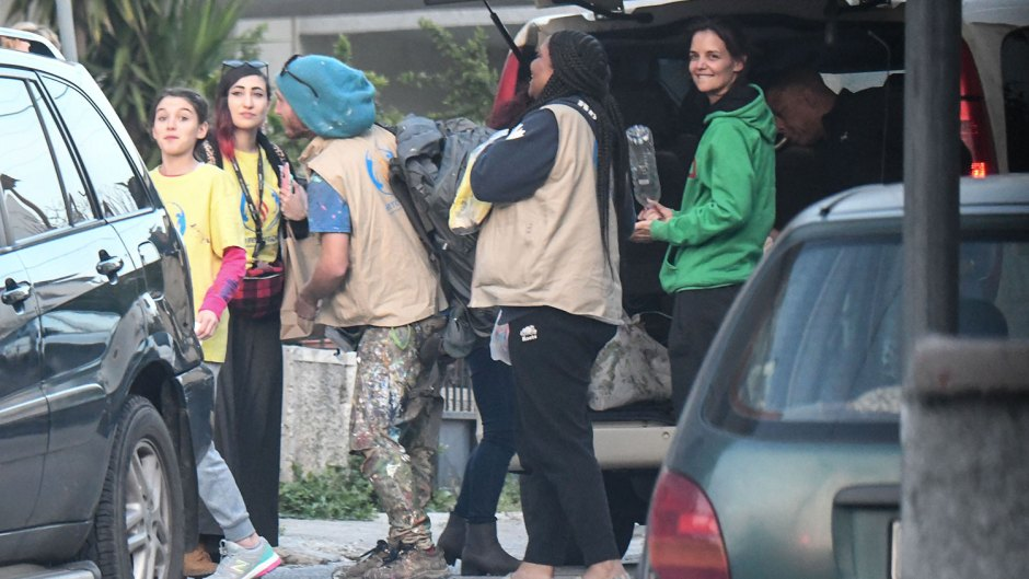 Katie Holmes and suri Cruise Visit Refugee Camp in Greece