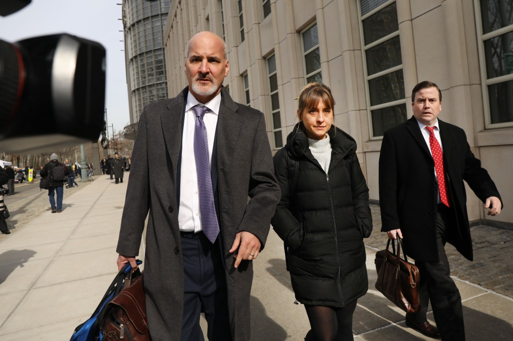 Actress Allison Mack Leaves Court With Her Lawyers After Court Appearance For The NXIVM Sex Cult Case