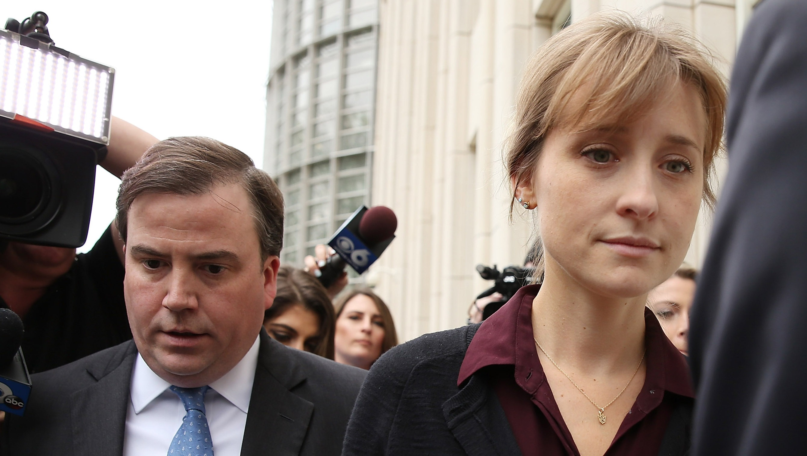 Actress Allison Mack Arrives At Court Over Sex Trafficking Charges