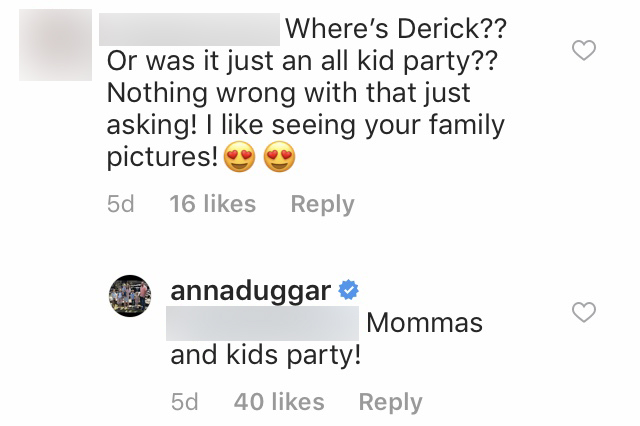 Anna Duggar Explains Why Derick Dillard Wasn't at Israel's Birthday Party