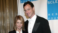 Bob Saget Wearing a Suit with Lori Loughlin