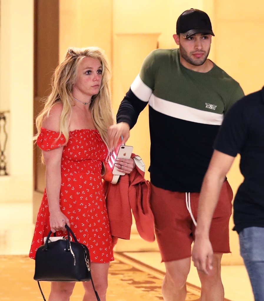 Britney Spears leaving The Montage hotel Beverly Hills