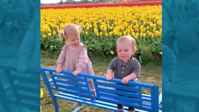 Ember and Jackson Roloff Being Adorable at the Tulip Festival