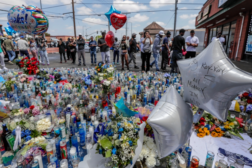memorial for nipsey hussle in LA