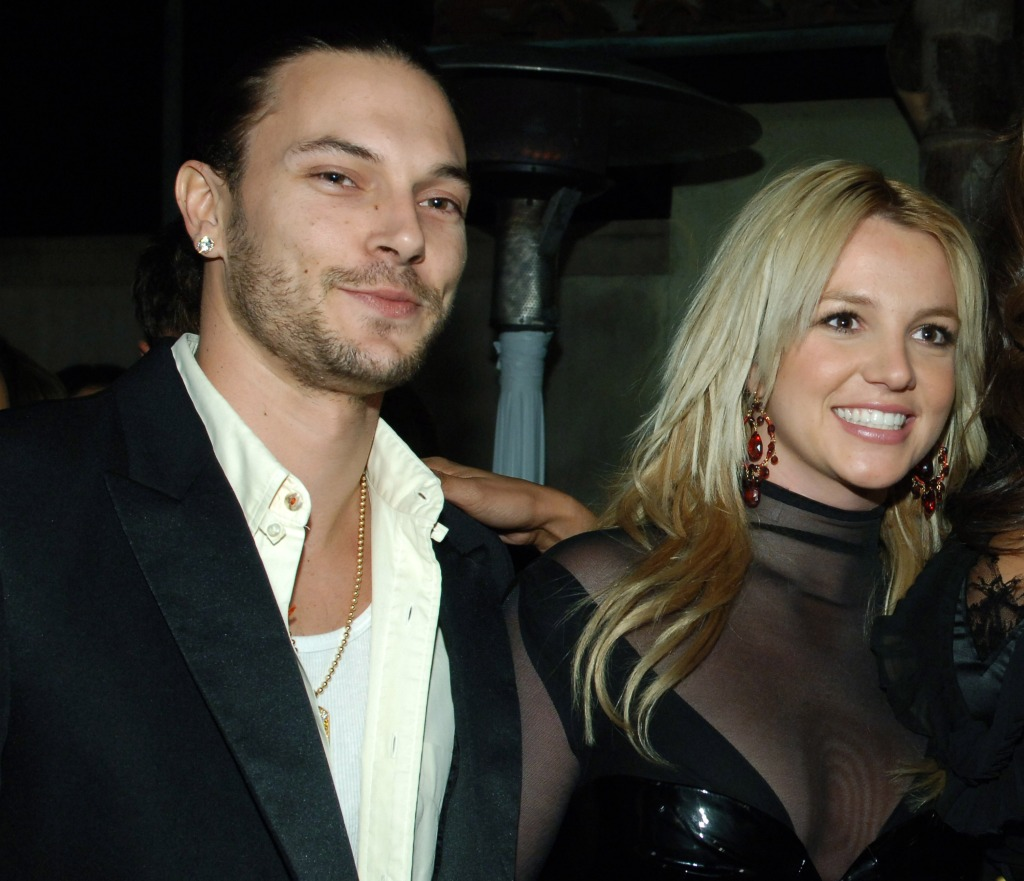 britney spears wearing black with kevin federline