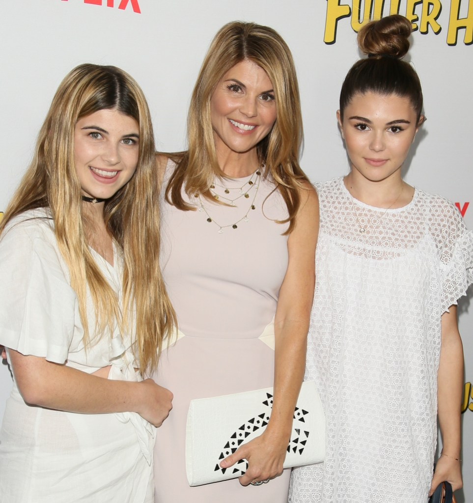 lori loughlin with her daughters wearing white