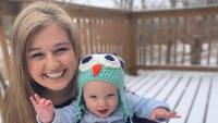 Kendra Duggar Holds Baby Garrett Outside in Snow