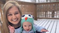 Kendra Duggar Holds Baby Garrett Outside in Snow