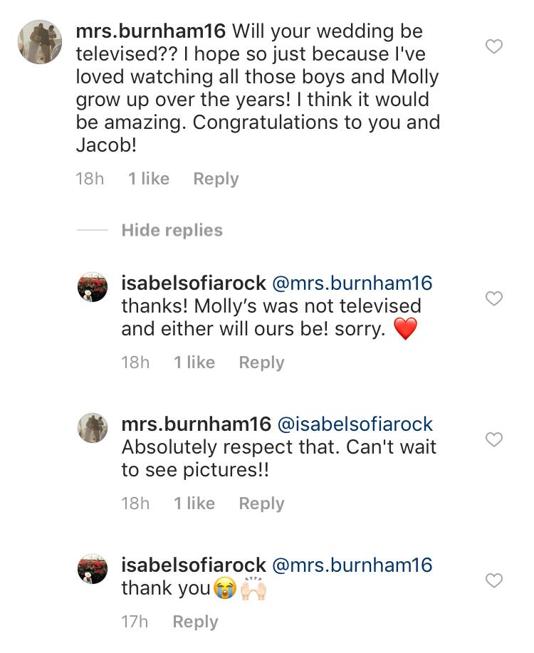 Jacob Roloff Won't Have a Televised Wedding