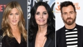 Jennifer Aniston Courteney Cox Justin Theroux Instagram