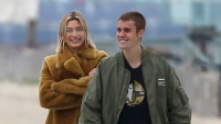 Justin Bieber and Hailey Baldwin take a romantic stroll on the beach