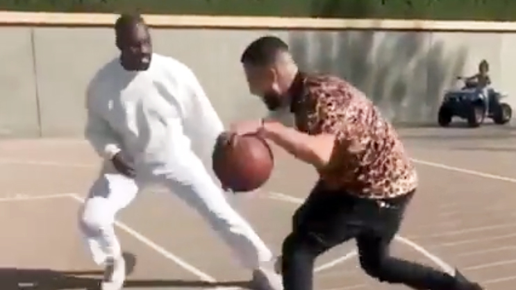 Kanye West Plays Basketball With Khloe K S Ex French Montana