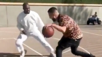 Kanye West Basketball Khloe Kardashian French Montana