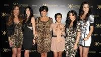 Kardashian Family Khloe Kardasian, Kylie Jenner, Kris Kardashian, Kourtney Kardashian, Kim Kardashian, and Kendall Jenner