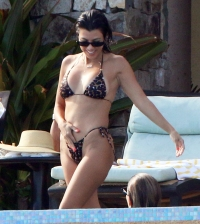 Kourtney Kardashian Bared Skin