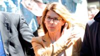 Lori Loughlin Arriving to Court Looking Stressed in a Brown Suit