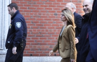 Lori Loughlin and Felicity Huffman arrive to court