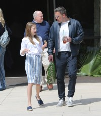Ben Affleck With His Daughter Violet at Church
